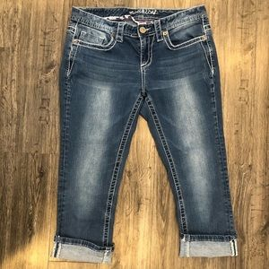 Maurices Cropped Jeans w/ Embellished Back Pockets